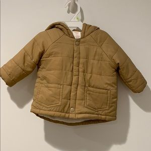 Fleece Lined Baby Jacket in Tan